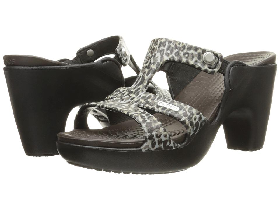 Crocs - Cyprus V Leopard Print Heel (Leopard) Women's Shoes