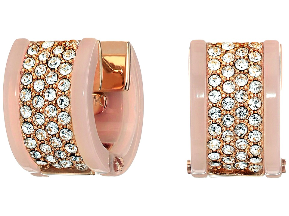 Michael Kors - Chain Huggie Earrings (Rose Gold 1) Earring