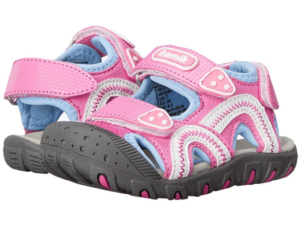 Kamik Kids - Seaturtle (Toddler/Little Kid/Big Kid) (Pink 1) Girl