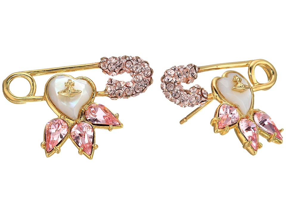 Vivienne Westwood - Glitzy Jordan Earrings (Vintage Rose/Mother of Pearl) Earring