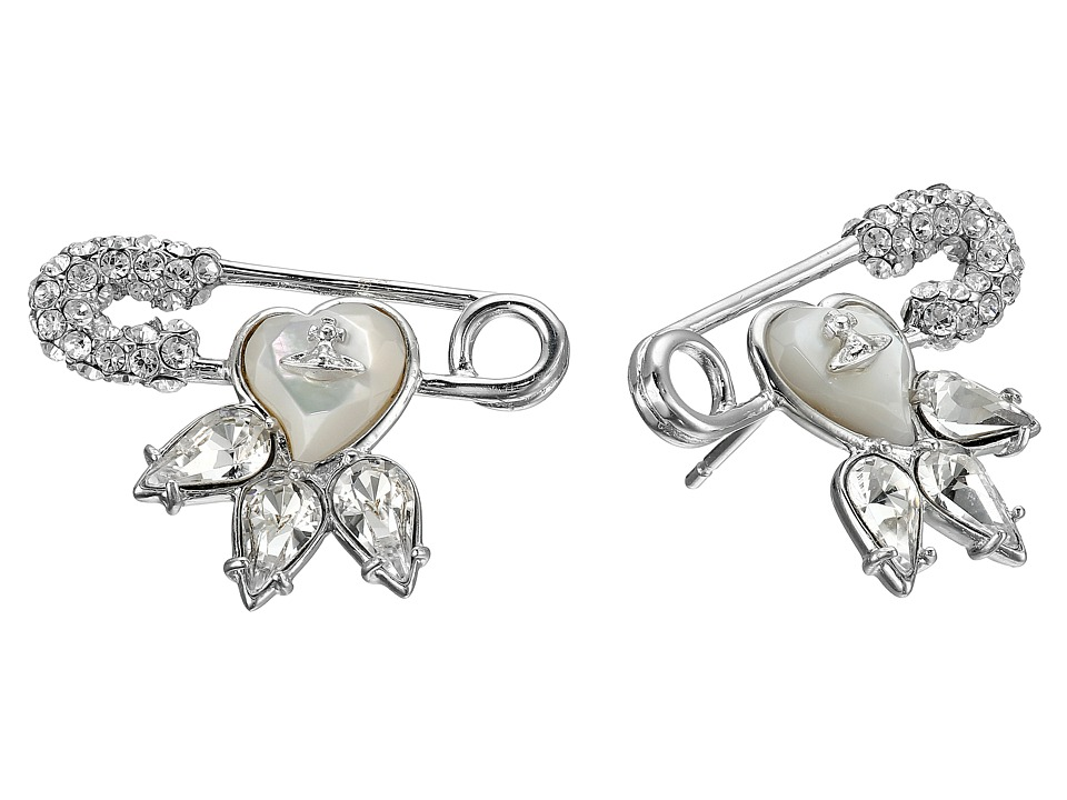 Vivienne Westwood - Glitzy Jordan Earrings (Crystal/Mother of Pearl) Earring