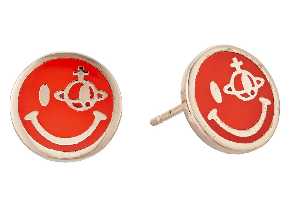 Vivienne Westwood - Smiley Earrings (Neon Red) Earring