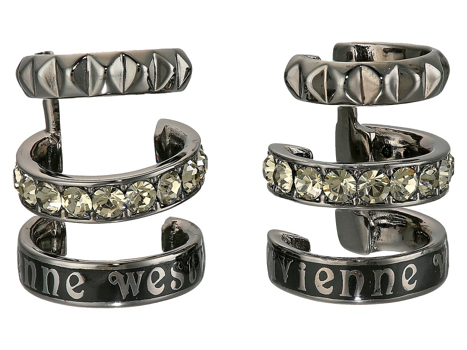 Vivienne Westwood - Marcella Earrings (Black/Black Diamond) Earring