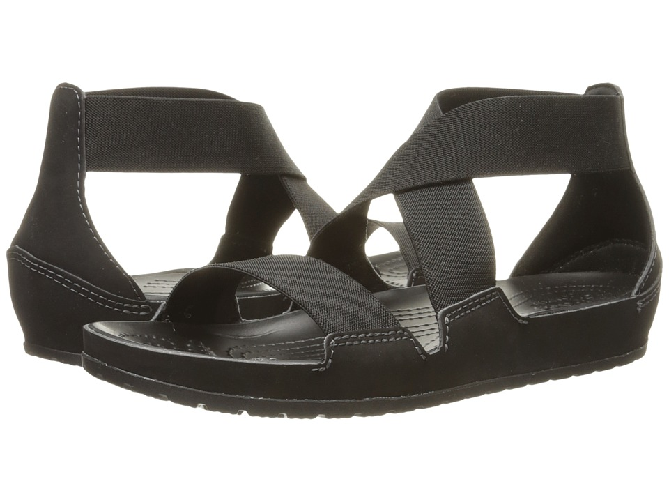 Crocs - Anna Ankle Strap Sandal (Black) Women's Sandals
