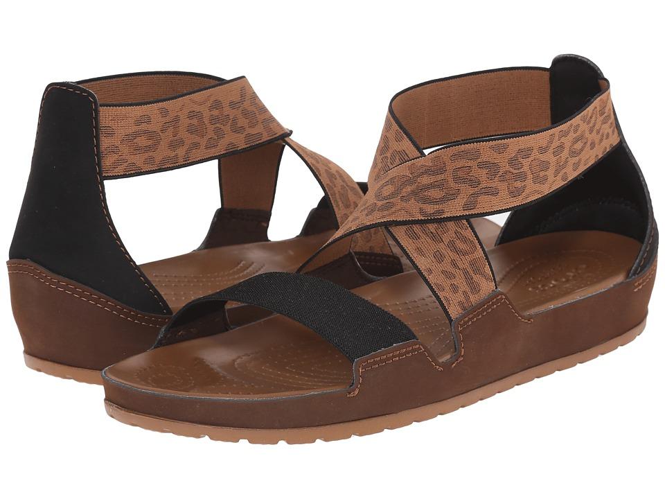 Crocs Anna Ankle Strap Sandal (Hazelnut/Espresso) Women
