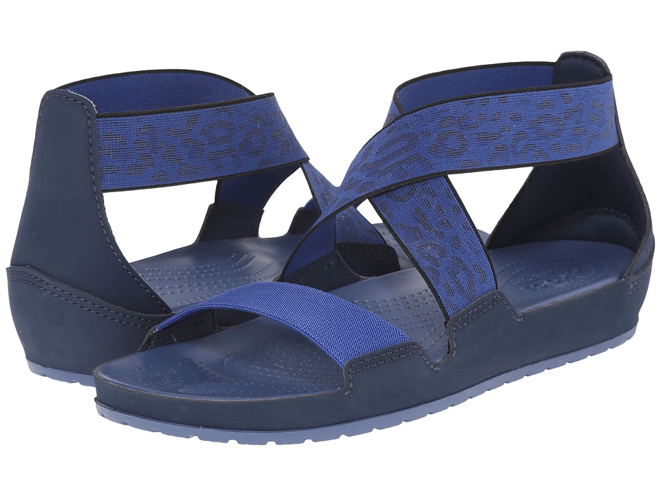 Crocs - Anna Ankle Strap Sandal (Navy/Bijou Blue) Women's Sandals