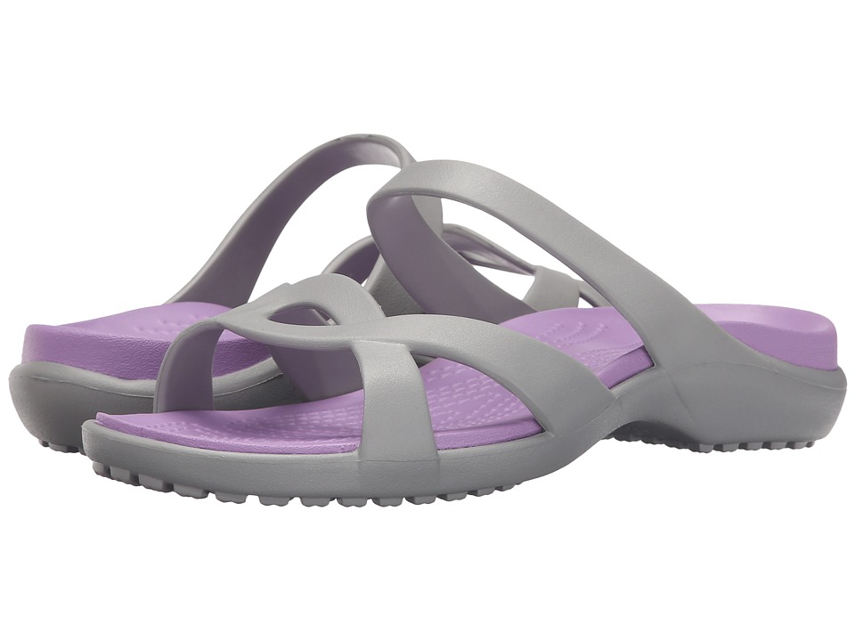 Crocs - Meleen Twist Sandal (Silver/Iris) Women's Sandals