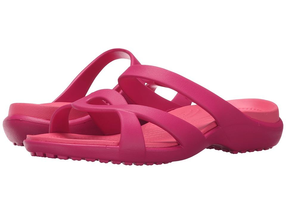 Crocs - Meleen Twist Sandal (Raspberry/Coral) Women's Sandals
