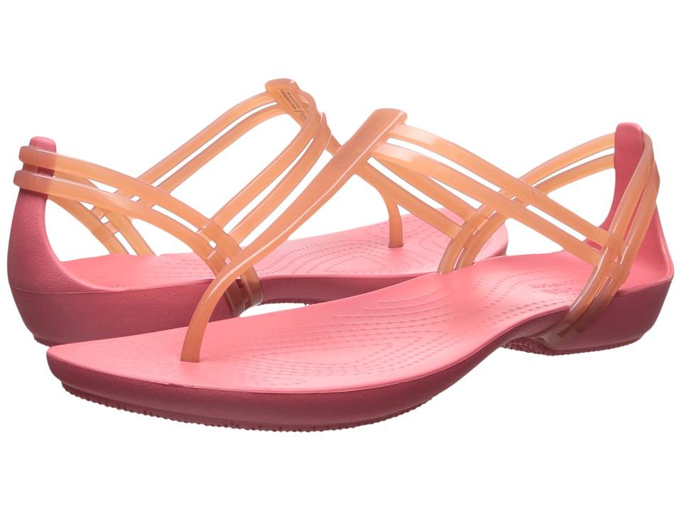 Crocs - Isabella T-Strap (Coral) Women's Sandals