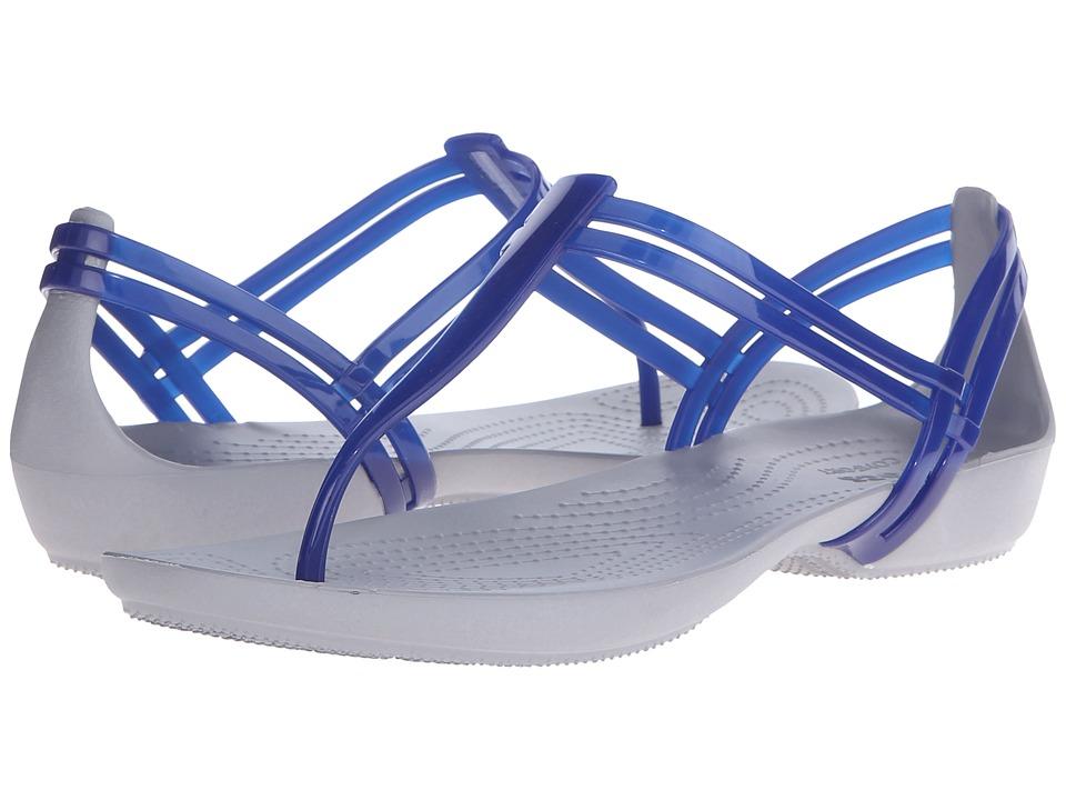 Crocs - Isabella T-Strap (Cerulean Blue) Women's Sandals