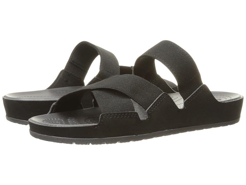 Crocs - Anna Slide (Black/Graphite) Women's Slide Shoes