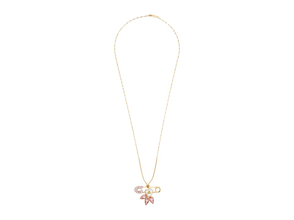 Vivienne Westwood - Glitzy Jordan Large Pendant (Vintage Rose/Mother of Pearl) Necklace