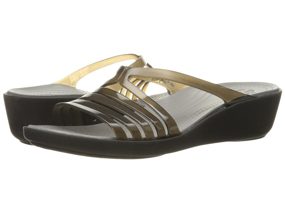 Crocs Isabella Mini Wedge (Black/Smoke) Women