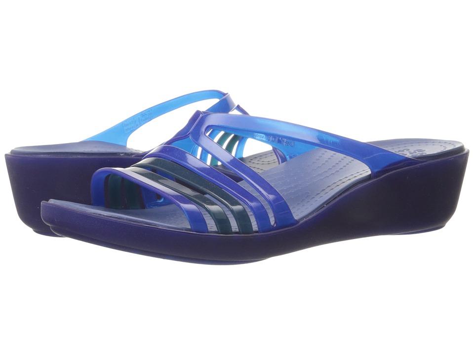 Crocs - Isabella Mini Wedge (Cerulean Blue) Women's Wedge Shoes
