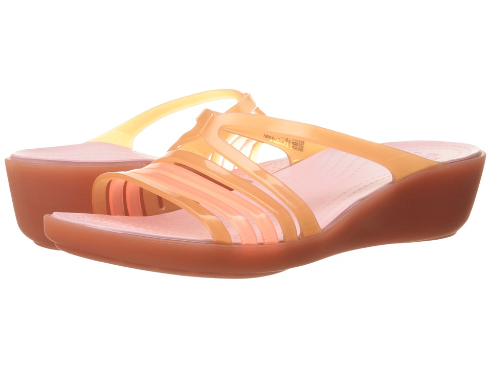 58b04843ef1061 ... UPC 887350760477 product image for Crocs - Isabella Mini Wedge (Coral) Women s  Wedge Shoes ...