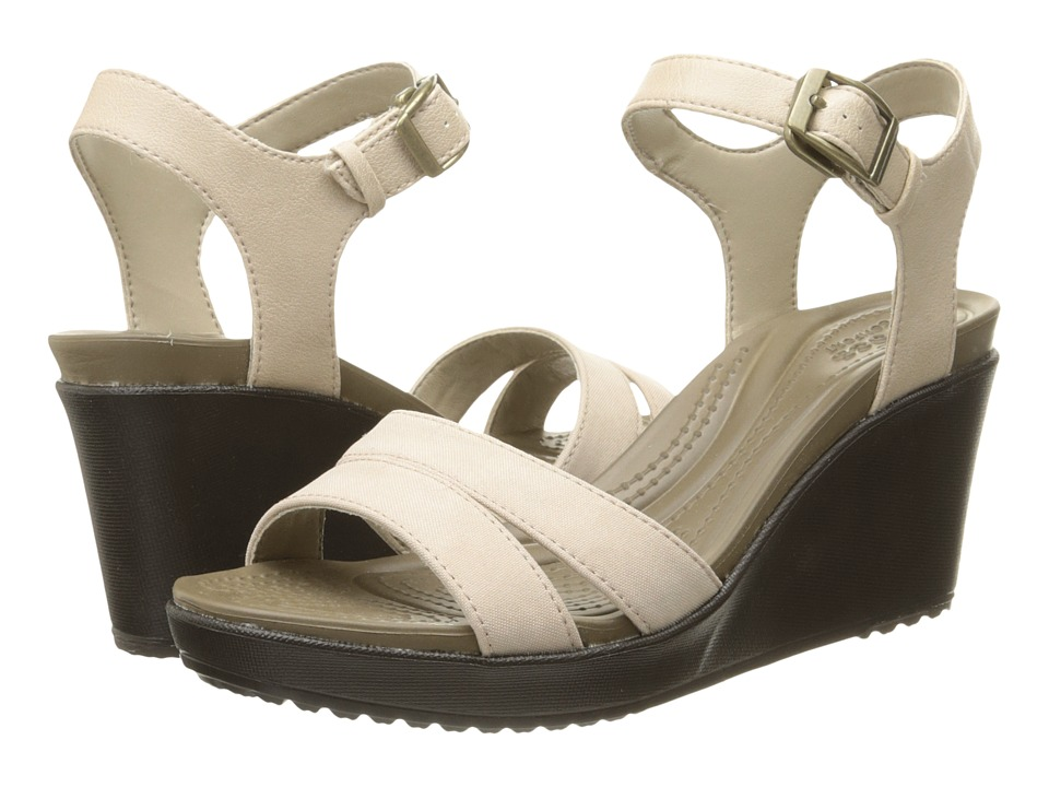 6bbee32ac2ac6b ... Sandals-women s Size UPC 887350727234 product image for Crocs - Leigh  II Ankle Strap Wedge (Tumbleweed Espresso ...