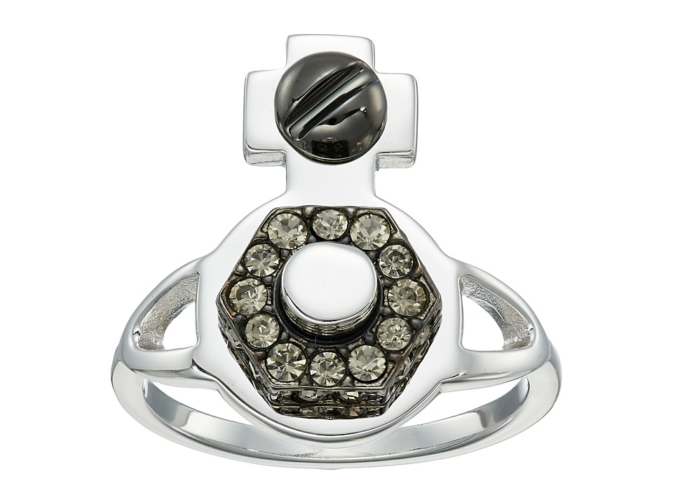 Vivienne Westwood - Jolene Orb Ring (Black Diamond) Ring