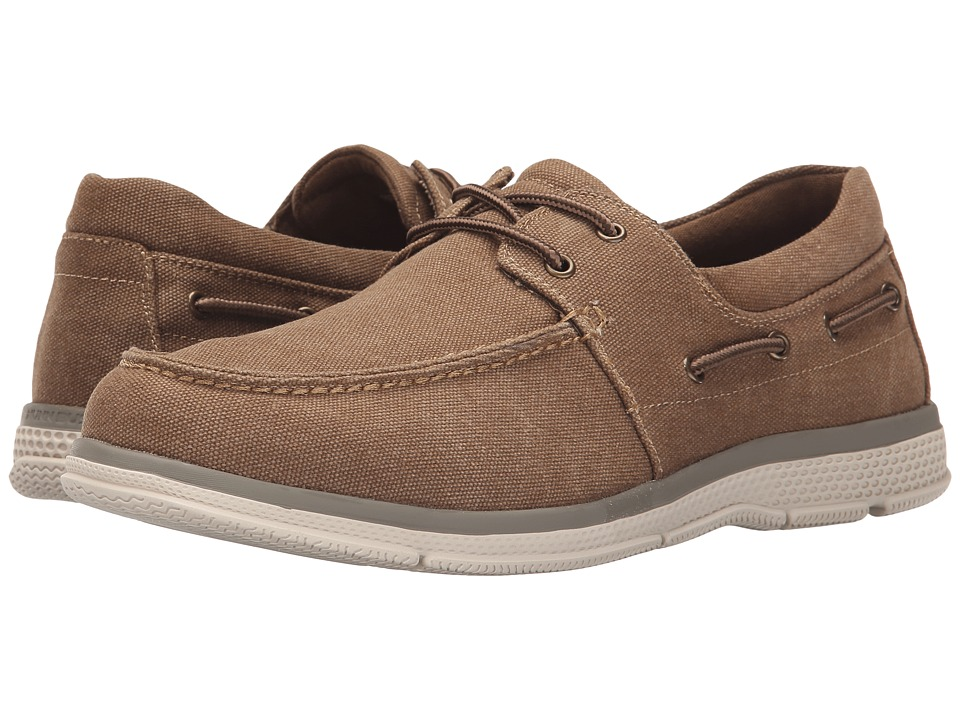 Nunn Bush Zac Two-Eye Moc Toe Boat Shoe (Taupe Canvas) Men