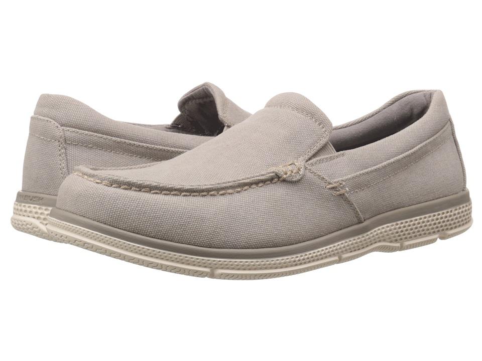 Nunn Bush - Zane Twin Gore Moc Toe Slip-On (Sandstone Canvas) Men's Slip on Shoes