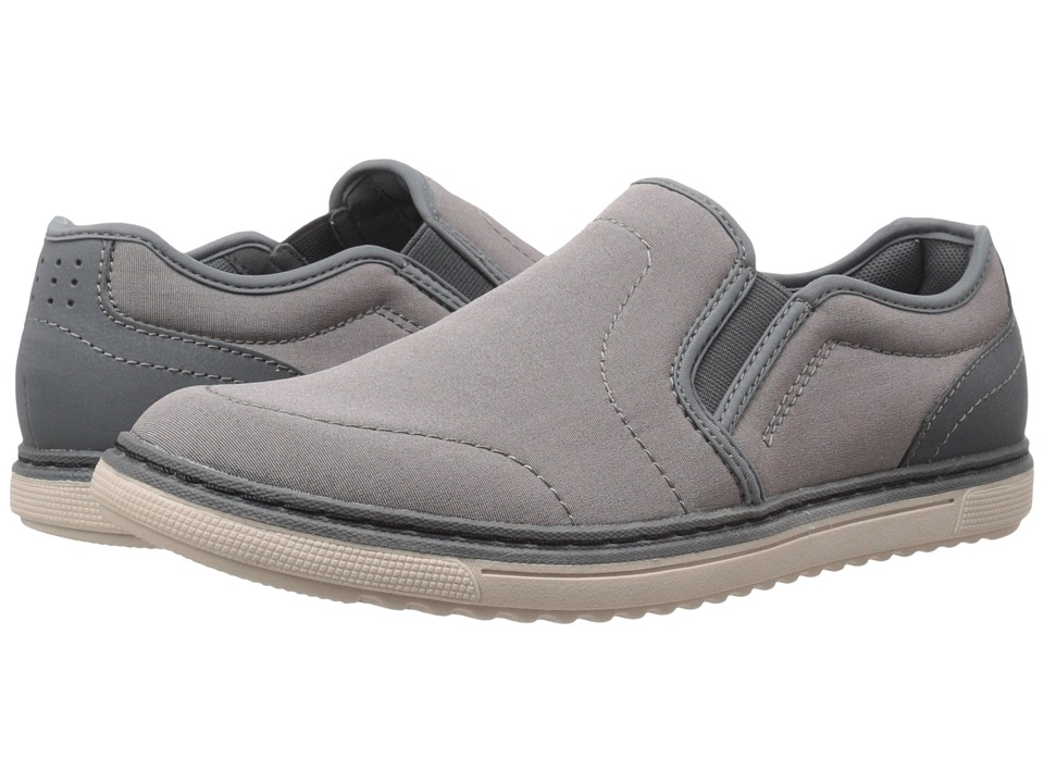 Nunn Bush - Archie Twin Gore Plain Toe Slip-On (Light Grey) Men's Slip on Shoes