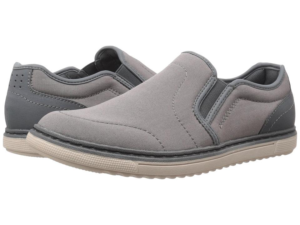 Nunn Bush - Archie Twin Gore Plain Toe Slip-On (Light Grey) Men's Slip on Shoes