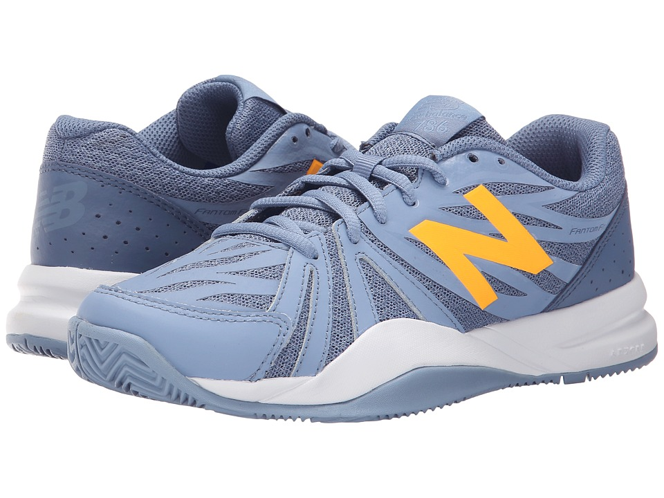 New Balance - WC786v2 (Grey/Yellow) Women's Tennis Shoes