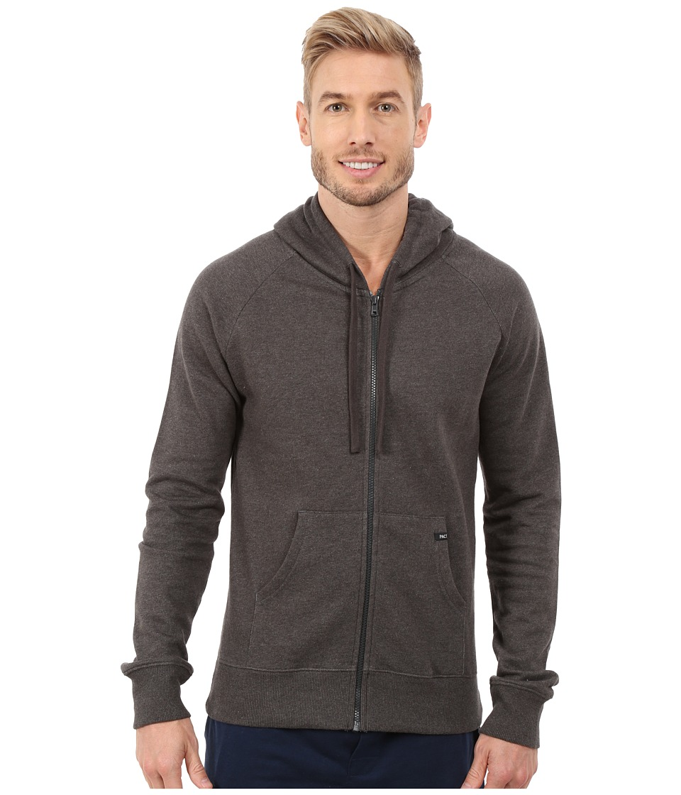 PACT - Charcoal Heather Hoodie (Charcoal) Men