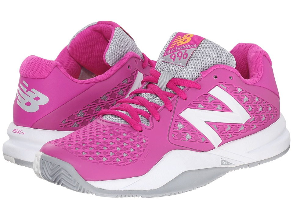 New Balance - WC996v2 (Pink/Grey) Women's Tennis Shoes