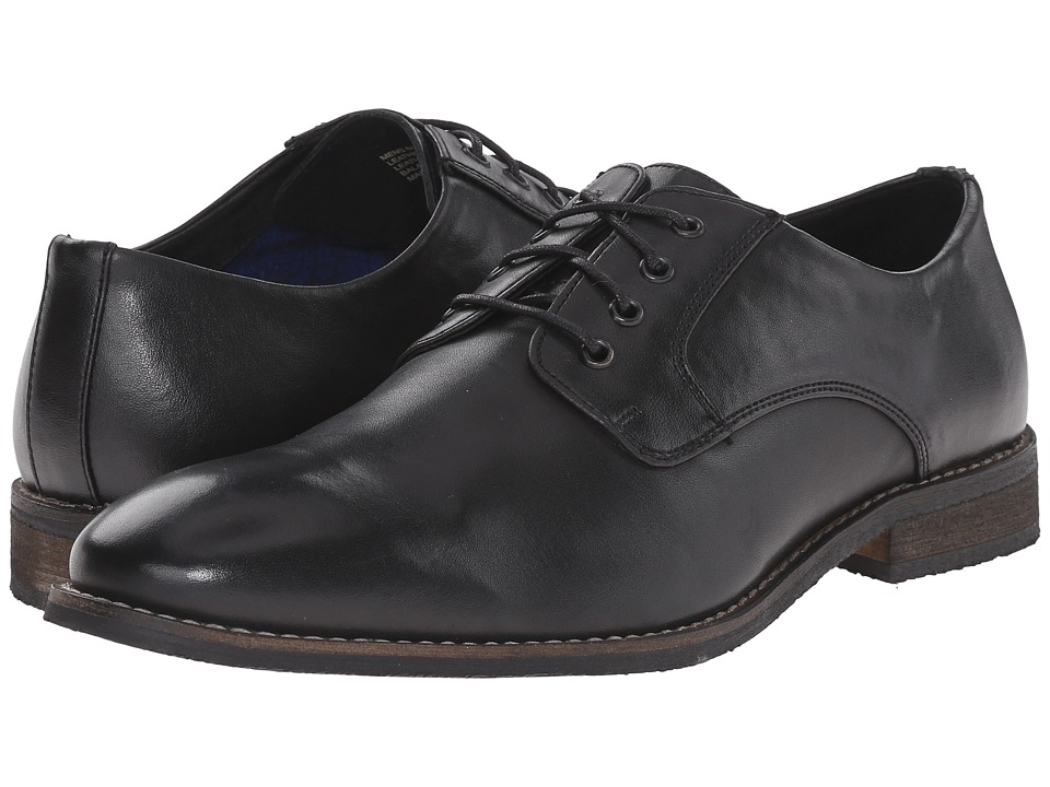 Nunn Bush - Howell Plain Toe Oxford (Black) Men's Shoes