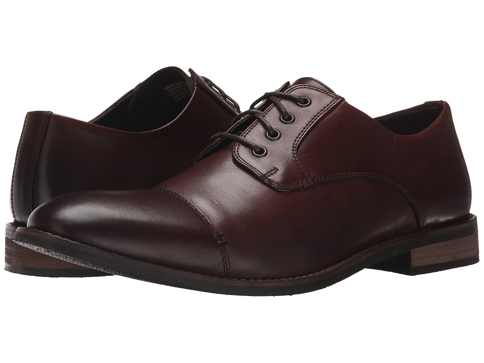 Nunn Bush - Holt Cap Toe Oxford (Brown) Men's Shoes
