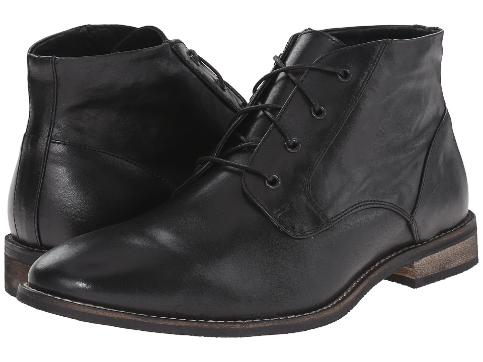 Nunn Bush - Hawley Plain Toe Chukka (Black) Men's Shoes