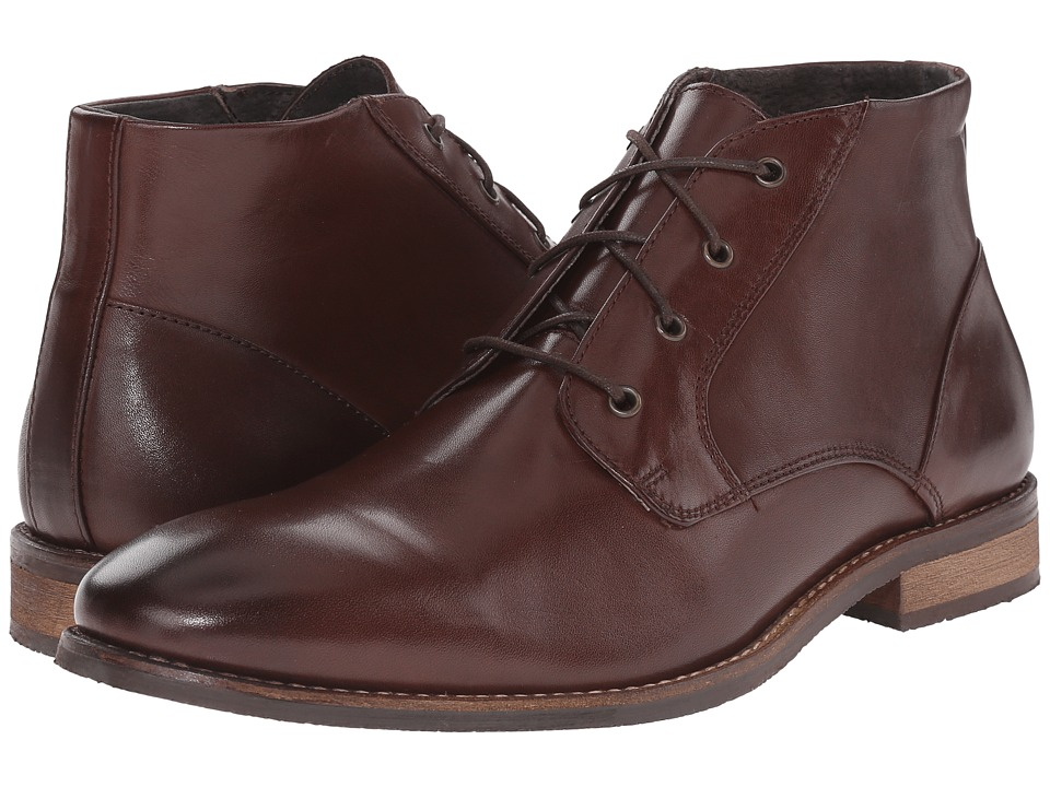 Nunn Bush - Hawley Plain Toe Chukka (Brown) Men's Shoes