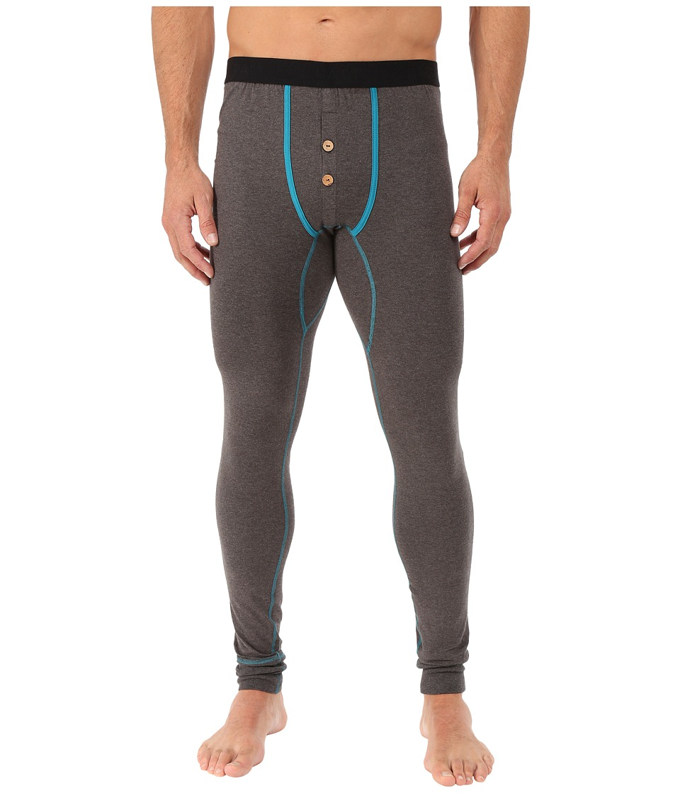 PACT - Charcoal Heather Long John (Grey) Men's Underwear