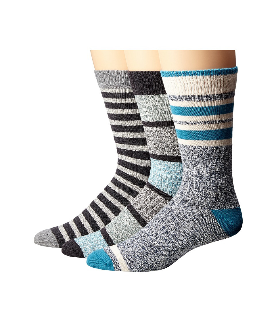 PACT - Stripe Work Sock Bundle (Gift Box) Men's Crew Cut Socks Shoes