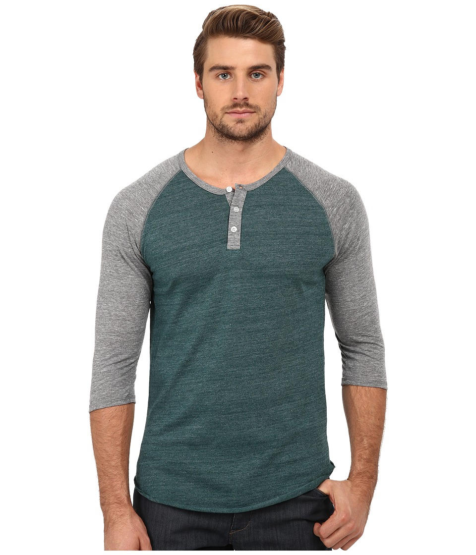 Alternative - Raglan Henley (Eco True Dragonfly) Men's Clothing
