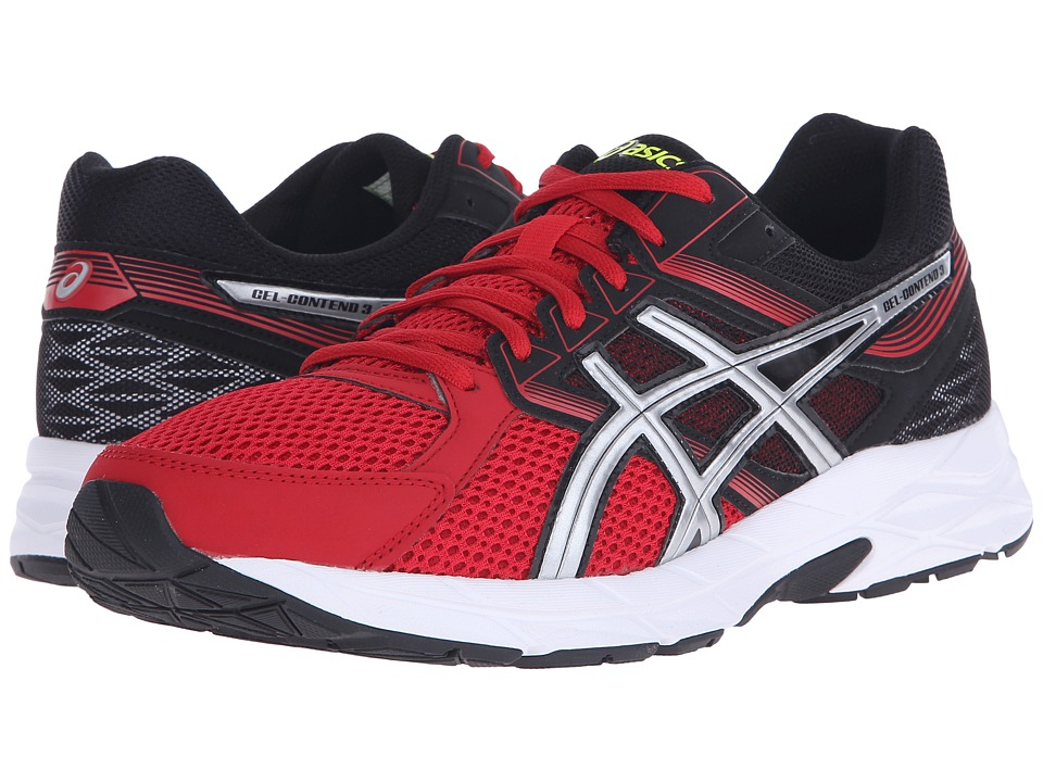ASICS - Gel-Contend 3 (Racing Red/Silver/Black) Men's Running Shoes