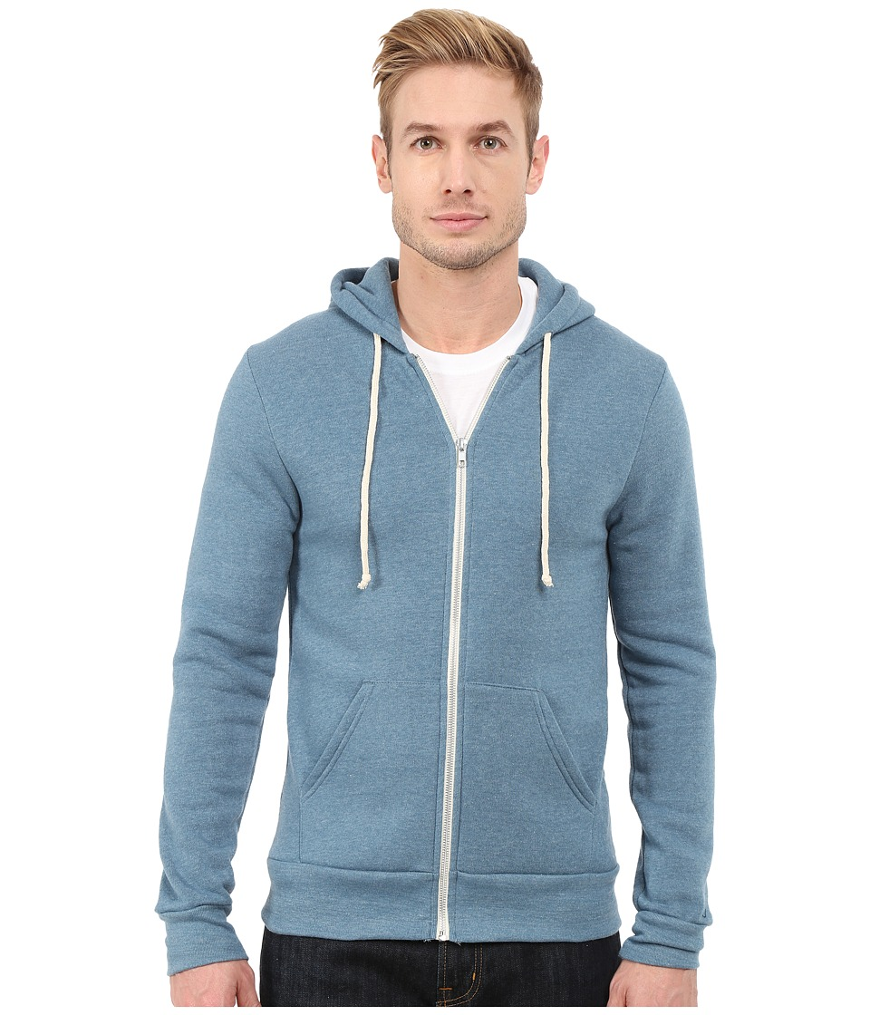 Alternative - Rocky Eco-Fleece Zip Hoodie (Eco True Blue Ash) Men's Sweatshirt