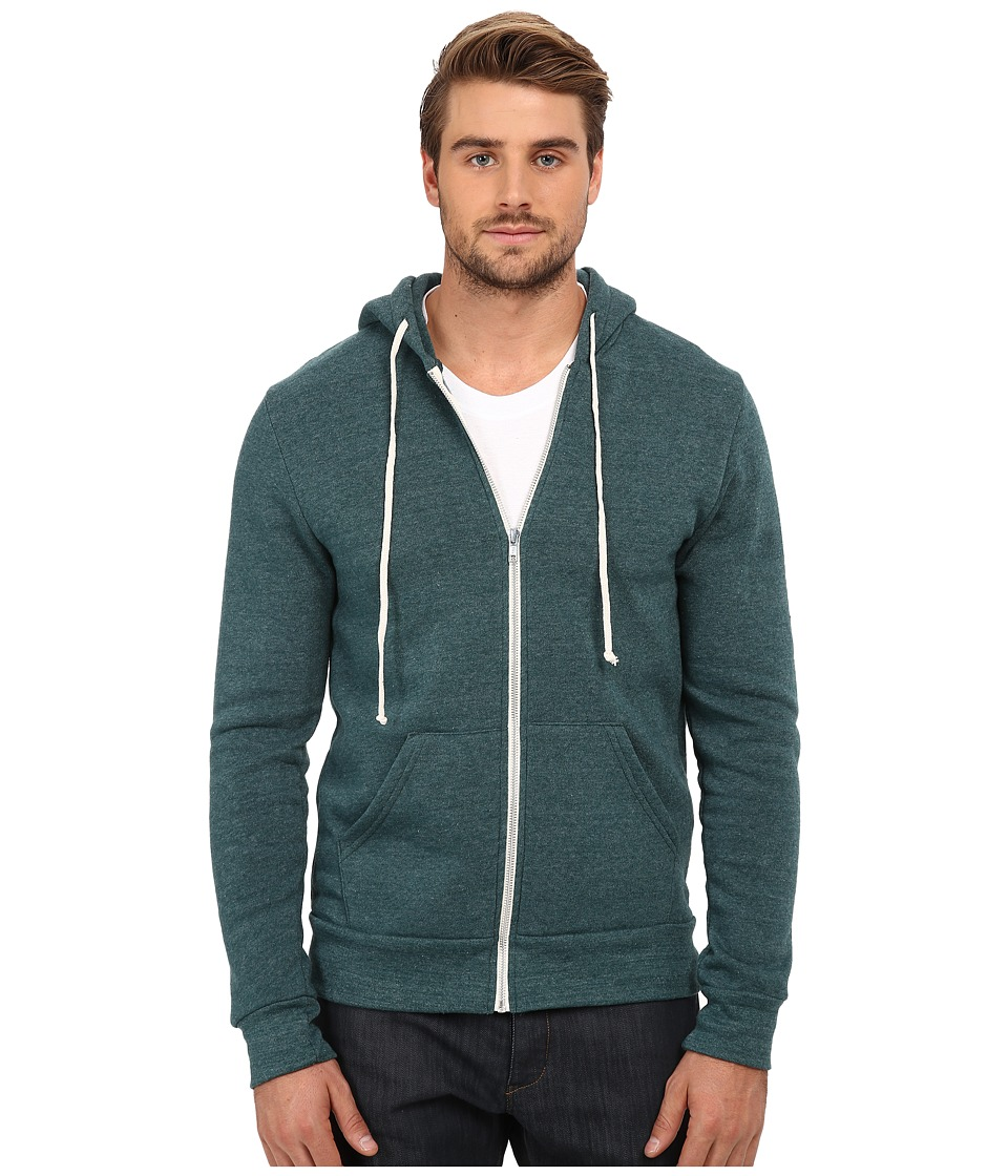 Alternative - Rocky Eco-Fleece Zip Hoodie (Eco True Dragonfly) Men's Sweatshirt