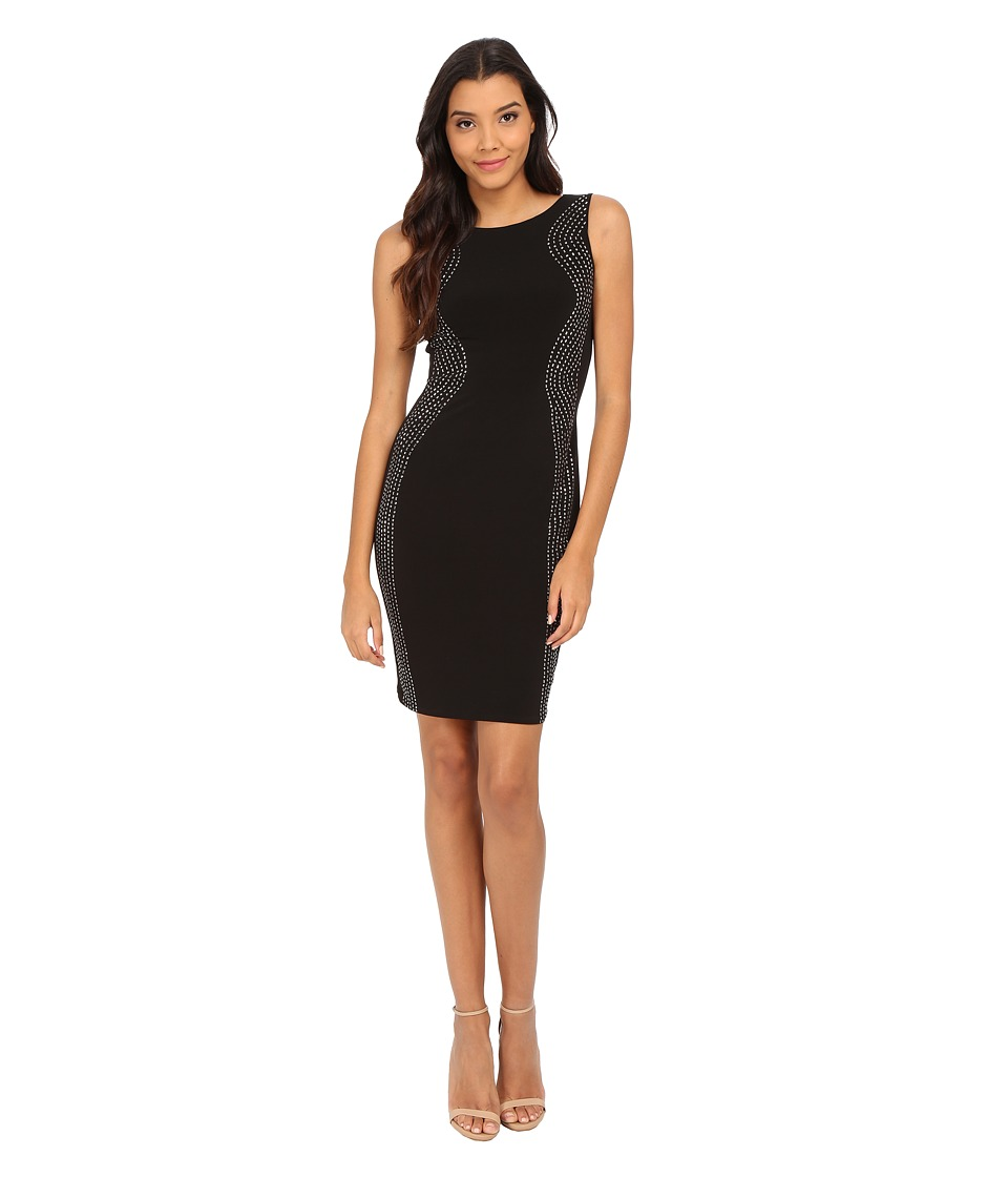 Calvin Klein - Sheath with Beading Dress (Black) Women's Dress