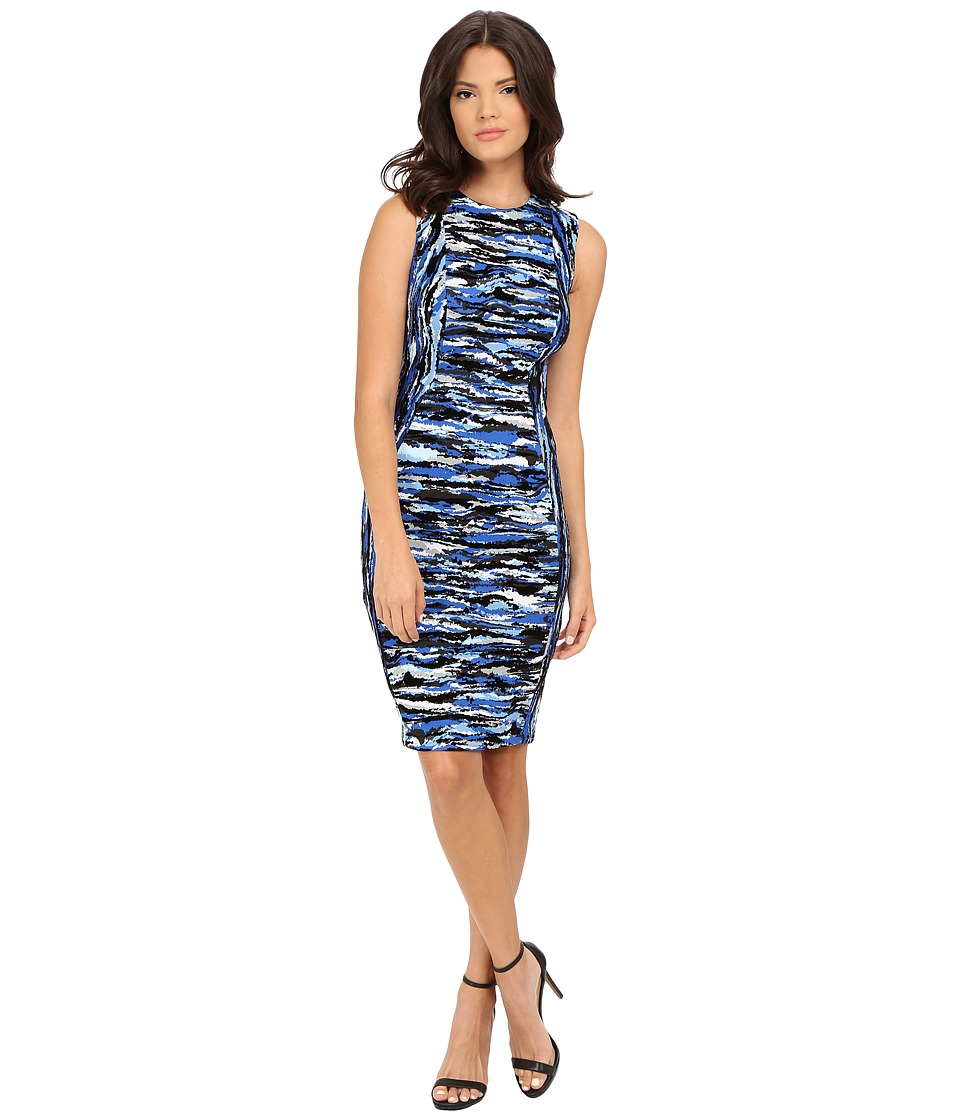 Calvin Klein - Flocked Sheath Dress (Celestial Multi) Women's Dress