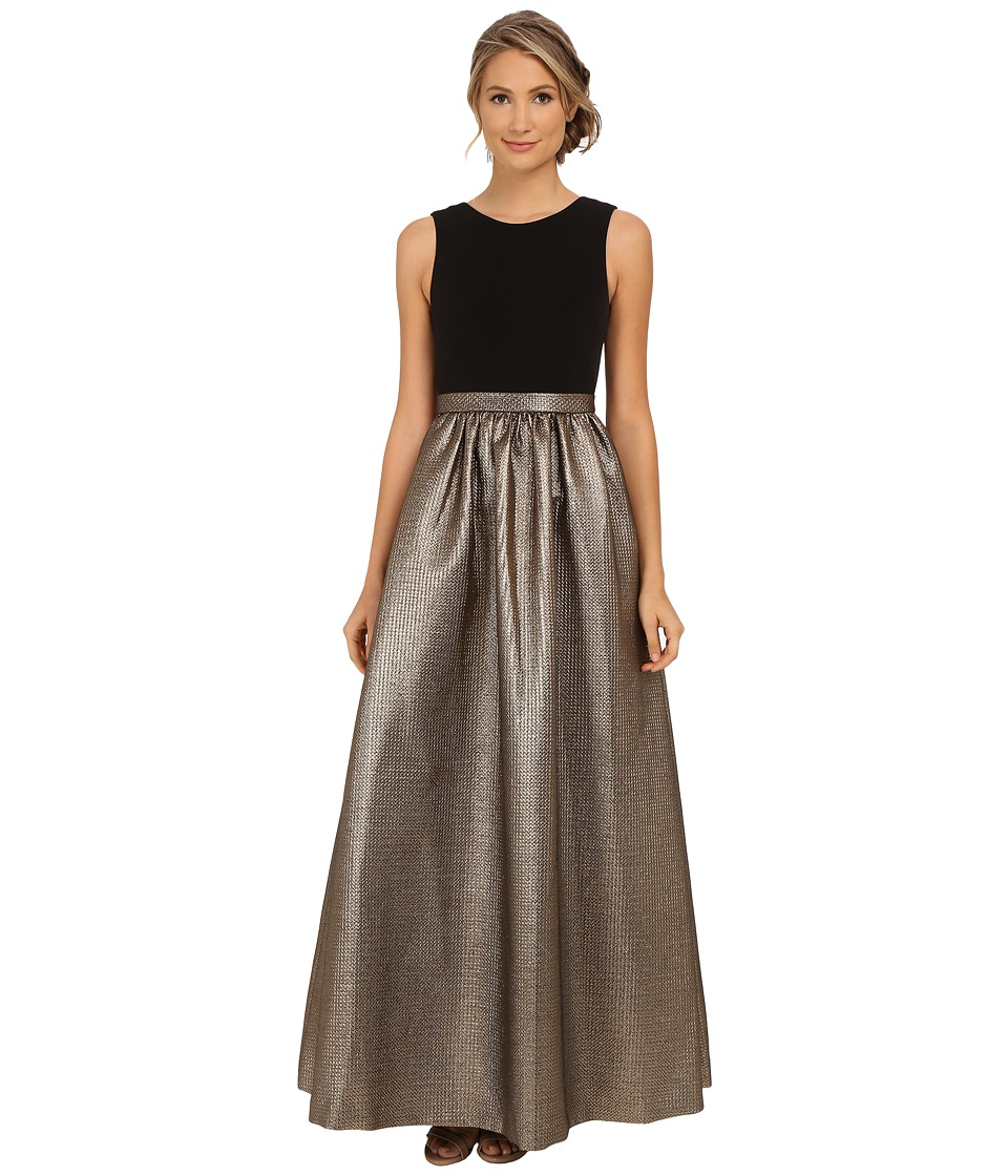 Calvin Klein - Sleeveless Ballgown (Black/Bronze) Women's Dress