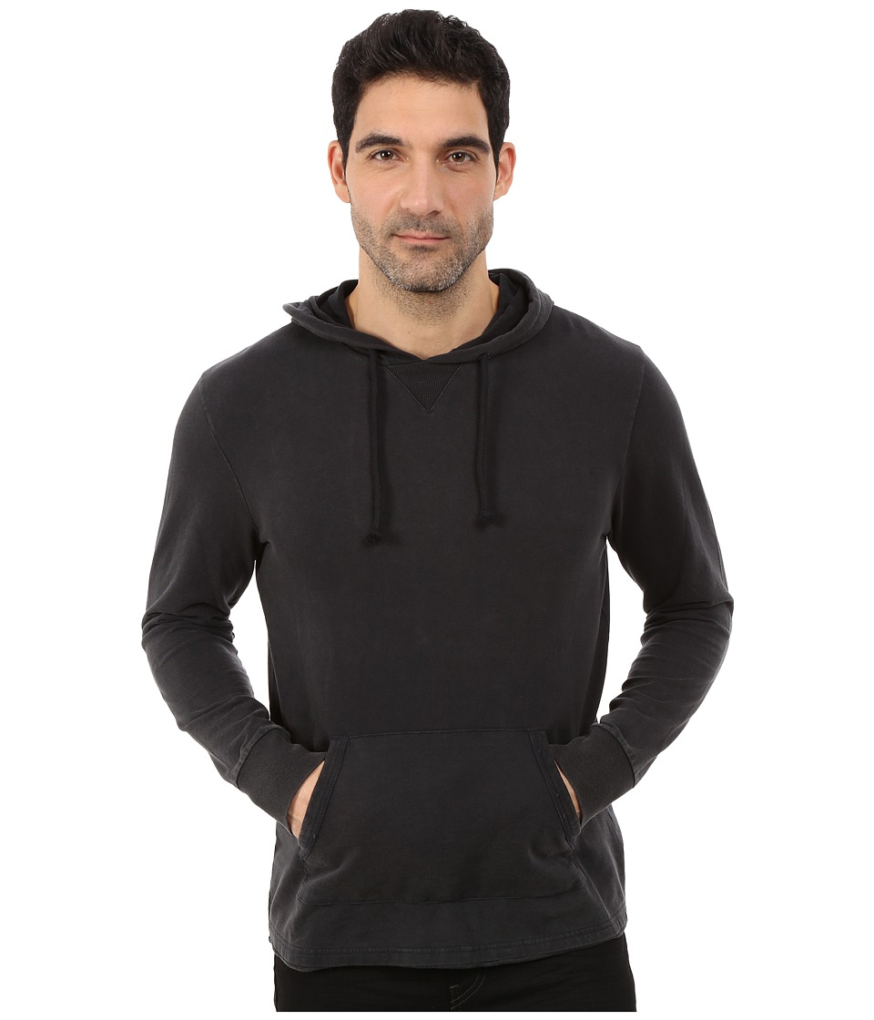 Alternative - Eco Micro Fleece Seasoned Hoodie (Black Wash) Men's Sweatshirt