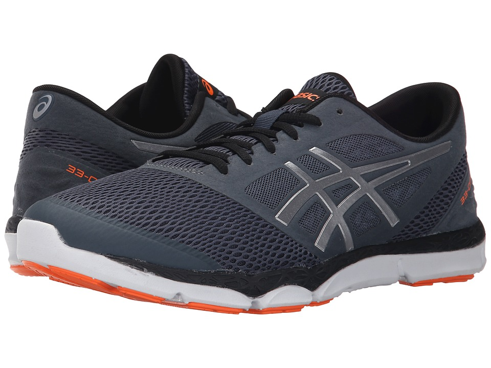 ASICS - 33-DFA 2 (Dark Slate/Silver/Orange) Men's Running Shoes