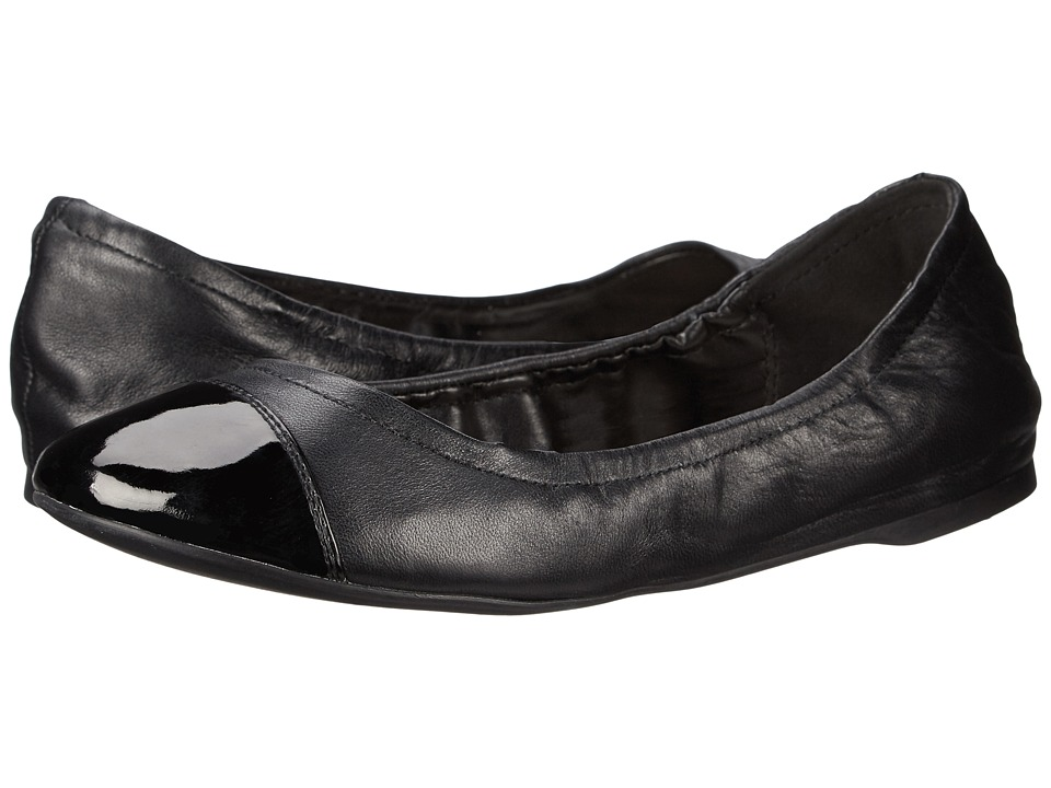 Cole Haan - Cortland Cap Toe Ballet II (Black/Black Patent) Women's Slip on Shoes
