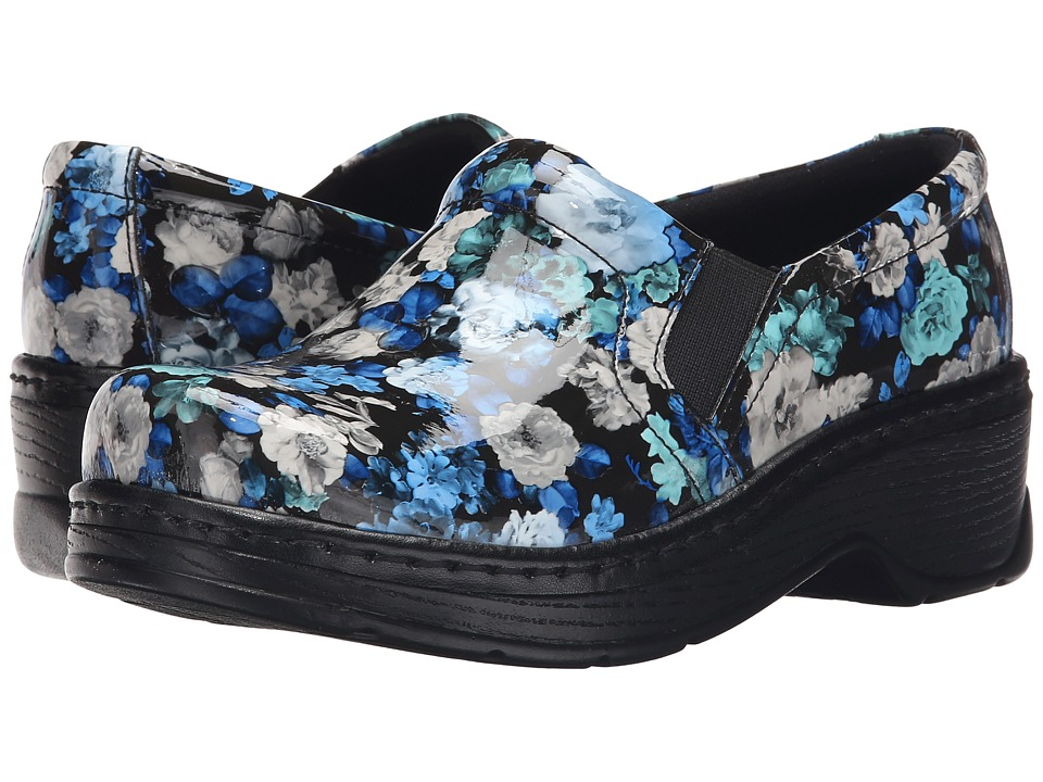 Klogs Footwear - Naples (Blue Flower Patent) Women's Clog Shoes