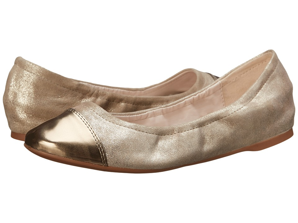 Cole Haan - Cortland Cap Toe Ballet II (Maple Sugar/Gold Metallic) Women's Slip on Shoes