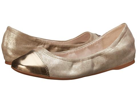Cole Haan - Cortland Cap Toe Ballet II (Maple Sugar/Gold Metallic) Women