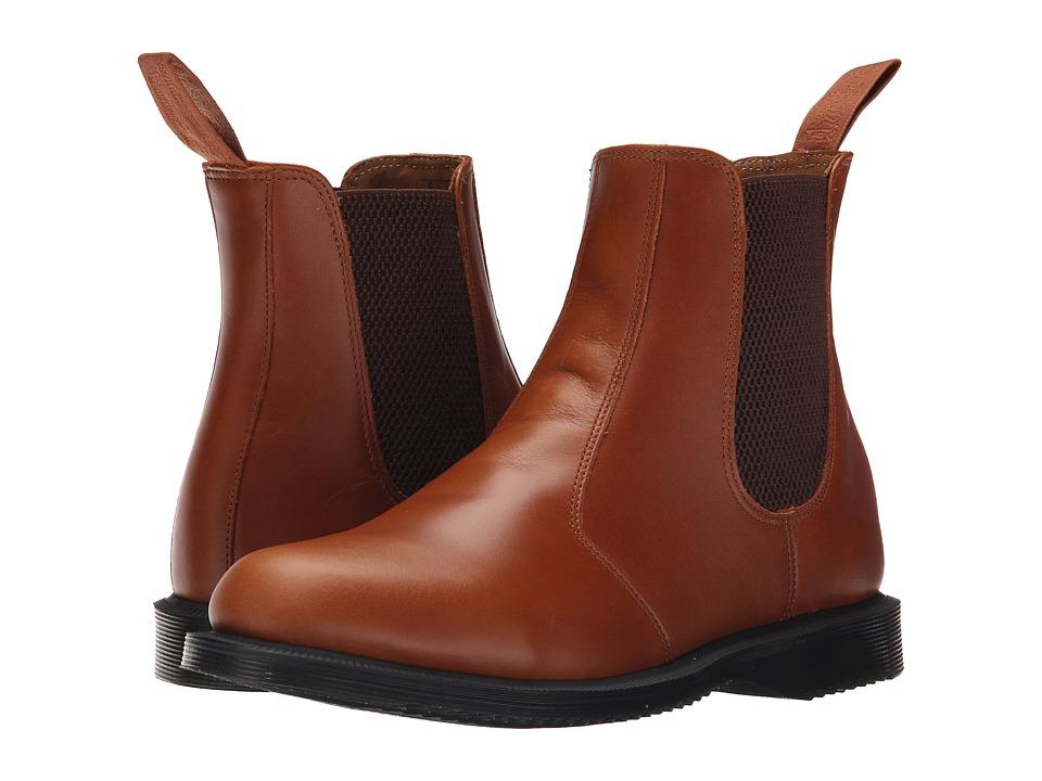 Dr. Martens - Flora Chelsea Boot (Oak Analine) Women's Lace-up Boots