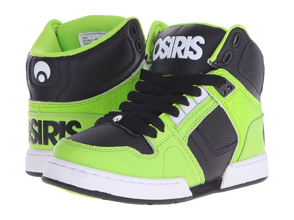 Osiris Kids - NYC 83 (Little Kid/Big Kid) (Lime/White) Boys Shoes