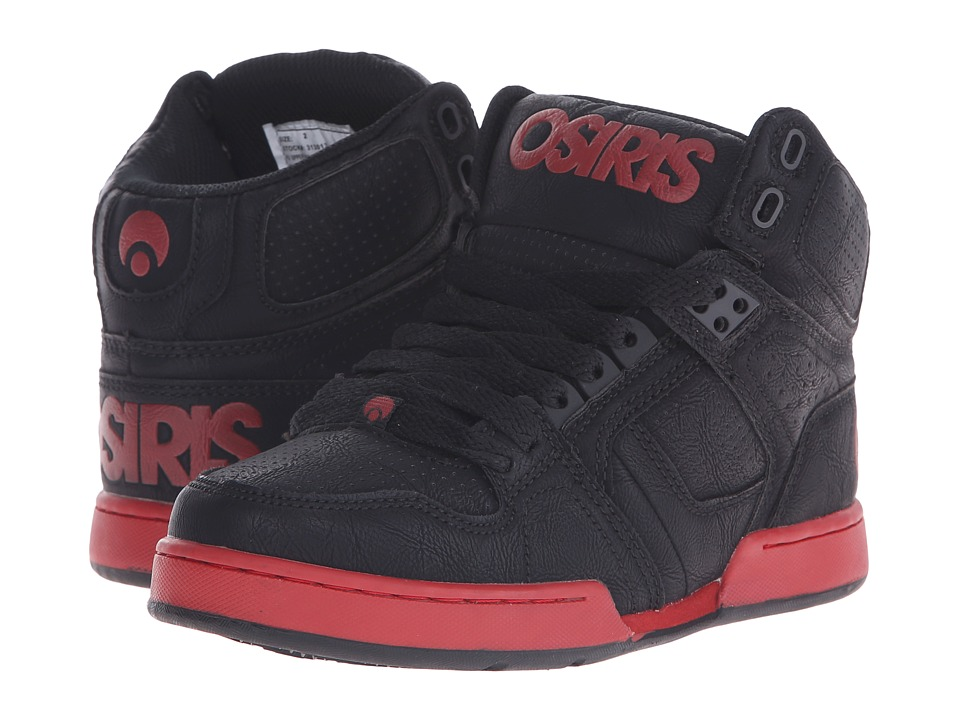 Osiris Kids - NYC 83 (Little Kid/Big Kid) (Black/Red) Boys Shoes